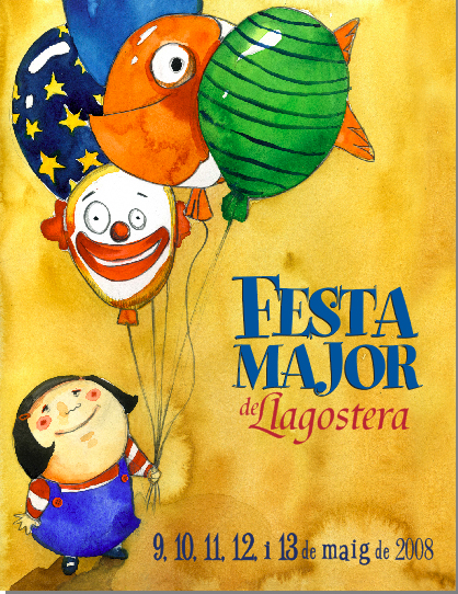 Cartel Fiesta Mayor Llagostera '08