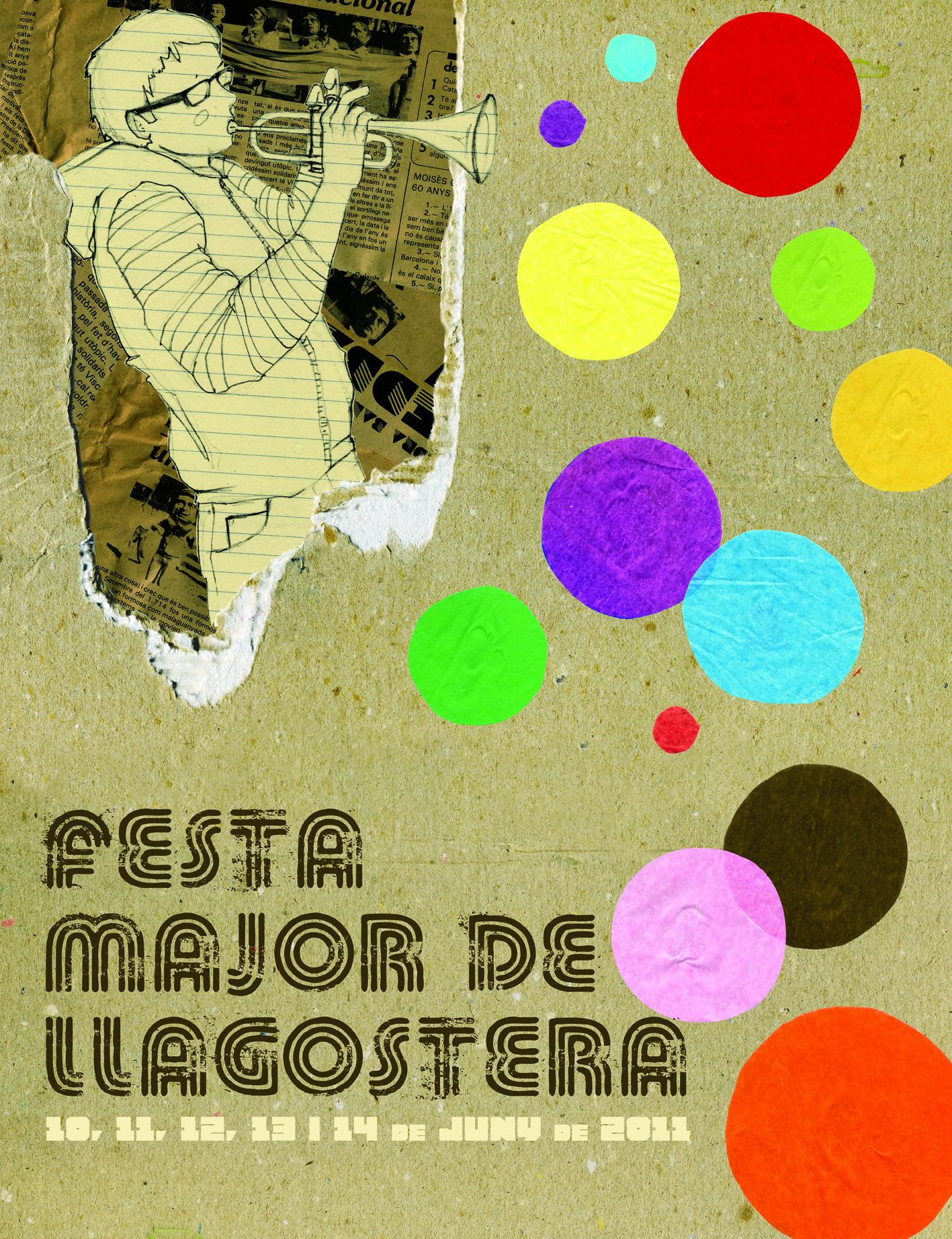 Cartell de Festa Major Llagostera 2011
